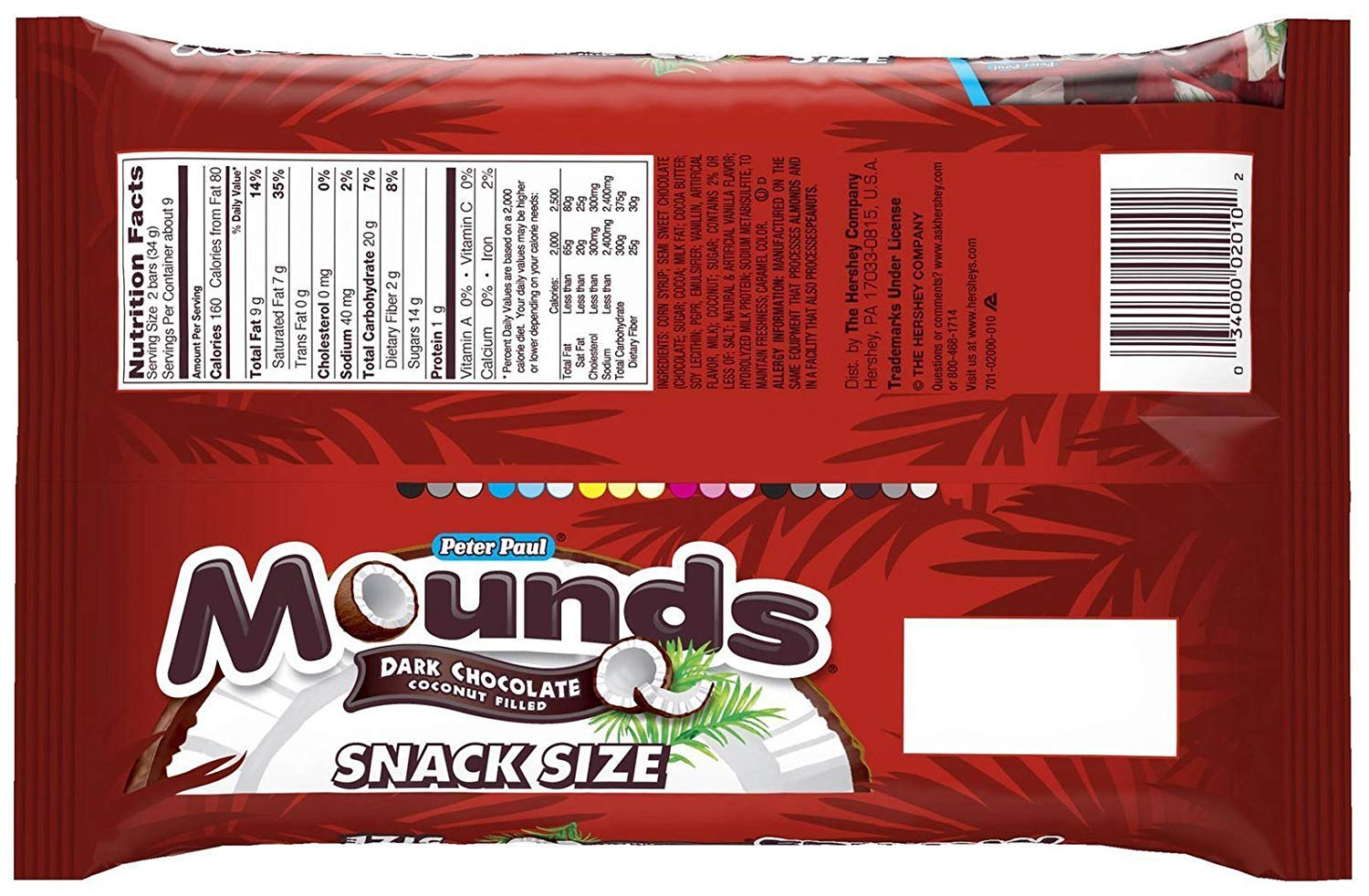 Mounds Snack Size Bars - 11.3 oz - 3 pk