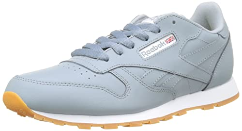 Reebok Classic Leather, Zapatillas de Running Unisex para Niños, Gris (Meteor Grey/