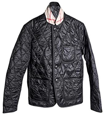 Burberry Mens Gillington Black Quilted Jacket At Amazon Mens