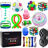 Sensory Fidget Toys Bundle-DNA Stress Relief Balls with Fidget Hand Toys for Anxiety Kids & Adults-Calming Toys for ADHD…