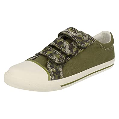 Camouflage Khaki Boys Canvas Shoes