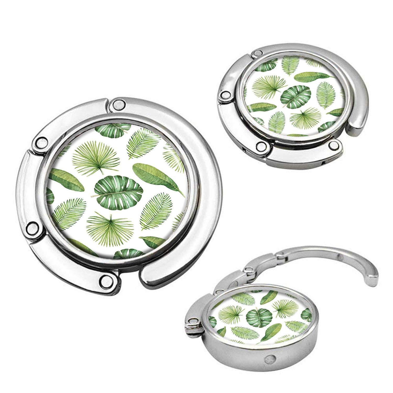 Green Leaves Handbag Table Hook Table Hook Folding Bag Desk Hanger Foldable HolderF