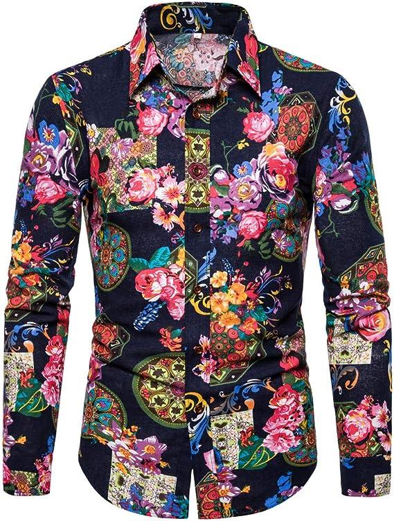 Poachers Camisas de Hombre Estampadas Camisas Hawaianas Cerveza Camisas Hombre Manga Larga Burdeos Camisas Hombre Verano Flores Camisetas Hombre Originales: Amazon.es: Ropa y accesorios