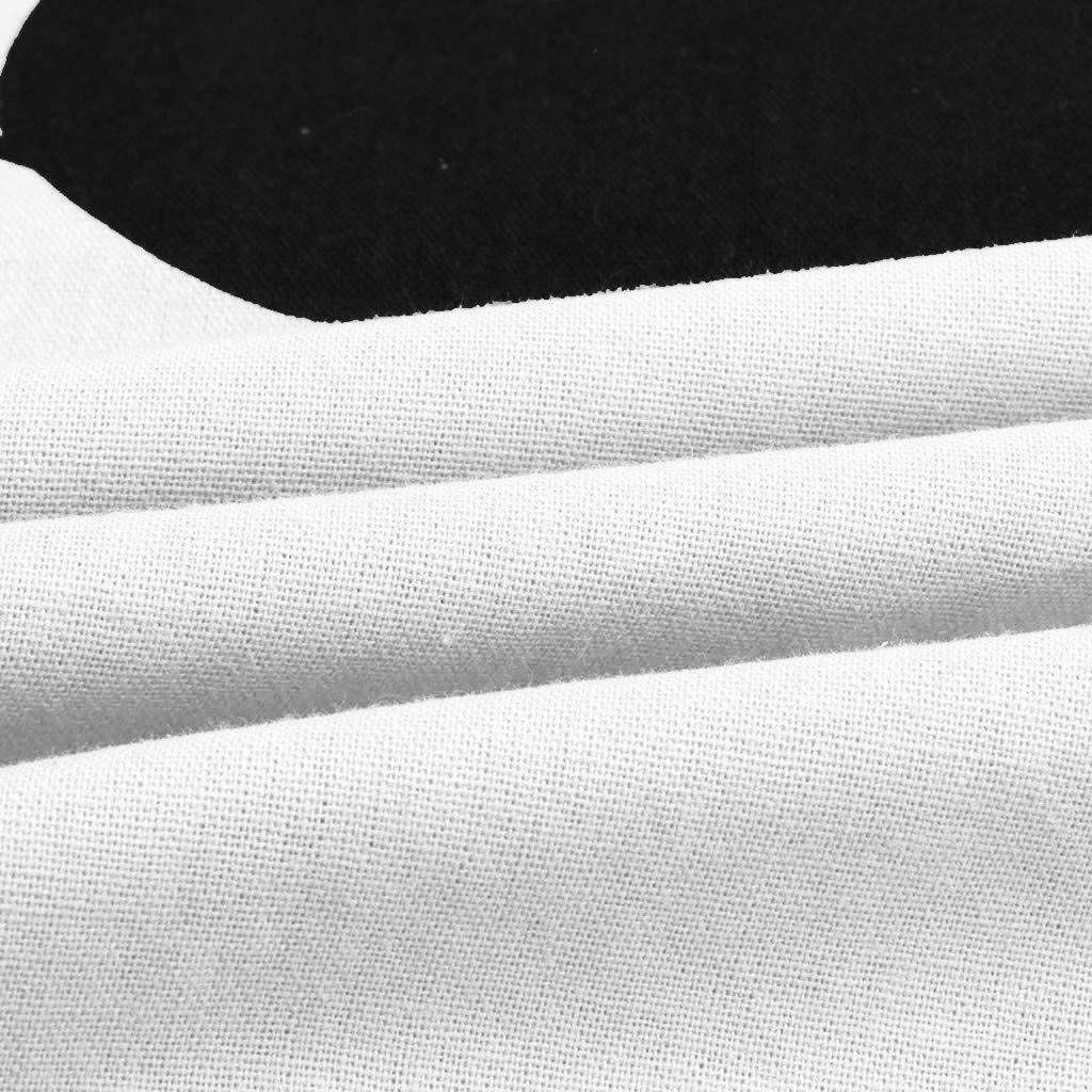 Camiseta de Verano con Cuello En V Paramujer Camisetas con Manga de Gato Tops F/áCiles Blusas Camiseta de Manga Larga con Estampado de Gato Paramujer
