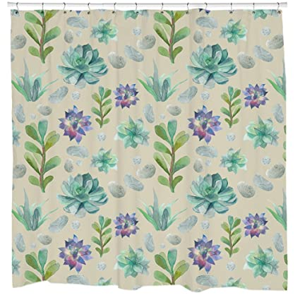 Amazon Succulents Plant Shower Curtain Printed In USA 71 X