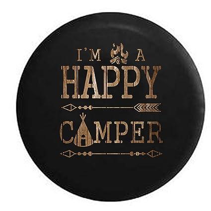 Amazon com: American Unlimited Spare Tire Cover Happy Camper