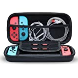Snowpink Switch Carrying Case Compatible with Nintendo Switch, With 8 Game Cartridges Protective Hard Portable Travel…
