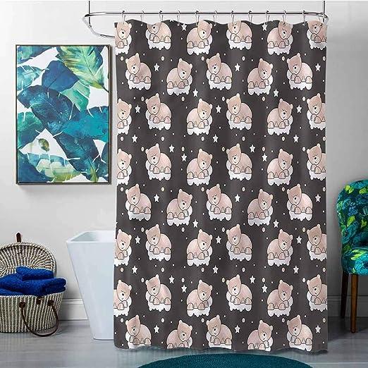 Amazon.com: SKDSArts Shower Curtains Longer Than 72 Kids,Bears