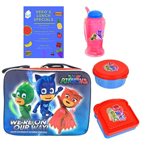 Shiny PJ Masks Catboy Gekko Owlette Soft Insulated Top Handle Lunchbox School Cooler Bag with Pj