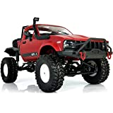 YIKESHU Rc Truck Remote Control Off-Road Racing Vehicles 1:16 2.4G 2CH 4WD Off-Road Kids RC Toy Climb Semi Truck RTR Trailer