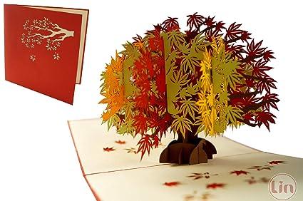 LIN17588 - Tarjeta pop up de árbol para cumpleaños, tarjetas ...