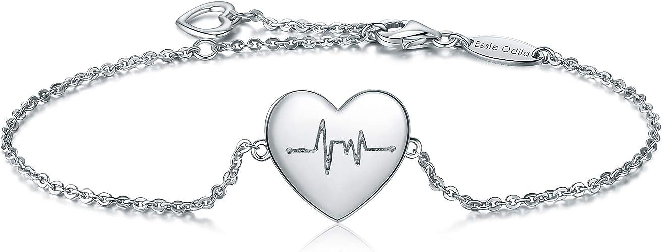Essie Odila Bracelet Femme Argent Bracelet de Charme Battement de ...