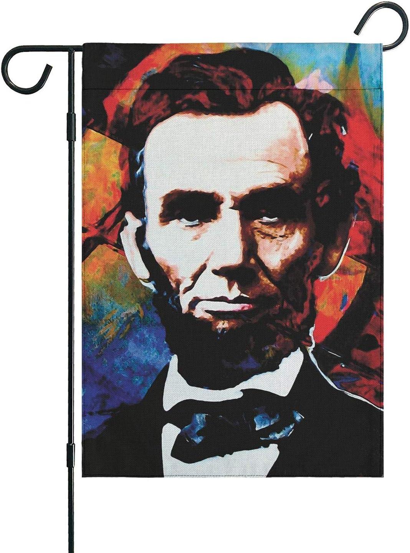 Creative Home Abraham Lincoln Garden Flag Stand Outdoor