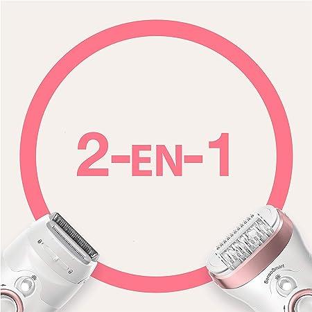 Braun Silk-épil 9 9-720 Depiladora eléctrica para mujer para una depilación duradera, cabezal de afeitado y recorte, con tecnología pinzas micro-grip