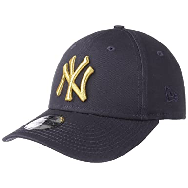 77cad2d3b2b35 New Era KIDS YOUTH Curved Peak MLB New York NY Yankees Golden 9Forty Navy    Gold