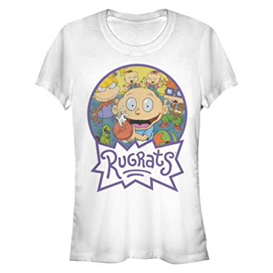 5ce65a30d56 Amazon.com  Fifth Sun Rugrats Juniors  Character Logo Circle T-Shirt   Clothing
