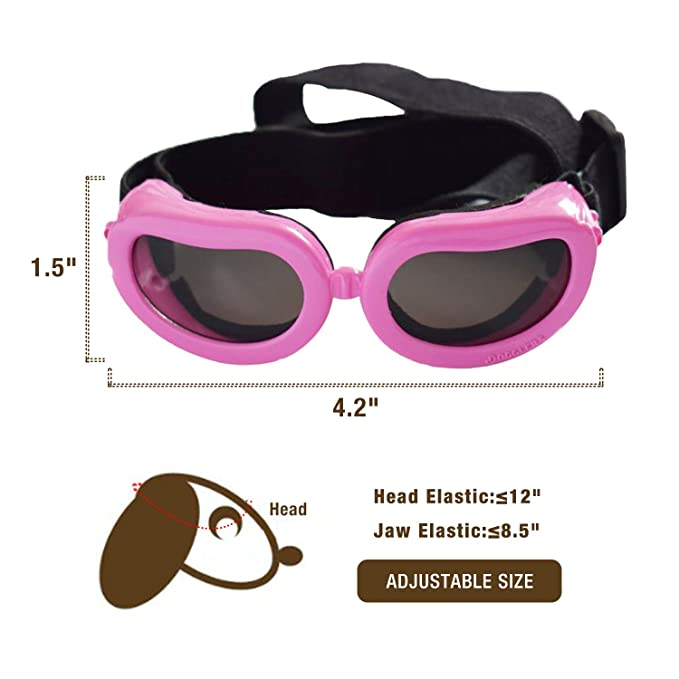 1057673bc72 Amazon.com   Dog Goggles - Small Dog Sunglasses Waterproof Windproof UV  Protection For Doggy Puppy Cat - Black   Pet Supplies
