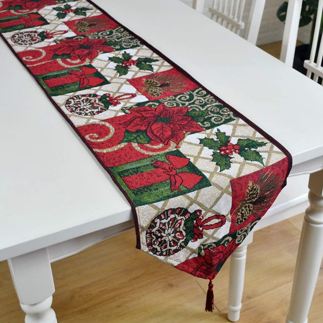 Buy Coxeer Christmas Table Runner Dining Table Cover Party Table Decorations Online At Low Prices In India Amazon In