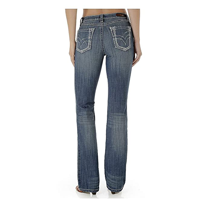 Wrangler Rock 47 Womens Low Rise Boot Cut Jean