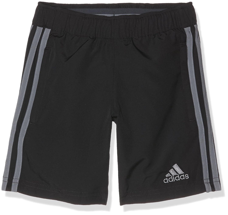 Adidas Con16 WOV SHO Y Pantaloncini, Bambino, Nero (Nero/Grivis), 128 AN9859