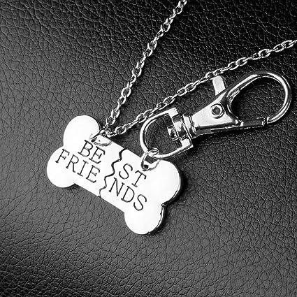 Amazon.com: Tinksky 2pcs perro hueso diseño mejores amigos ...