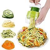 Adoric Cortador de Verdura 4 en 1 Rallador de Verduras Calabacin Pasta Espiralizador Vegetal Veggetti Slicer Pepino…