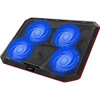 Gamenote Base de Refrigeracion Portatil Ventilador Gaming Cooler con 4 Ventiladores,Almohadilla de Metal, Soporte de…