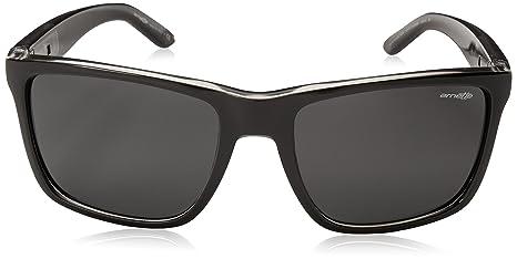 Arnette Herren Sonnenbrille 0AN4177 222555, Schwarz (Black/Darkblueemirrorbluee), 59