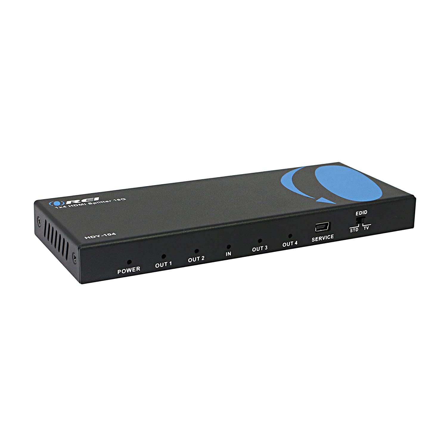 Orei 1x4 2 0 HDMI Splitter 4 Ports with Full Ultra HDCP 2 2, 4K at 60Hz &  3D Supports EDID Control - HDY-104