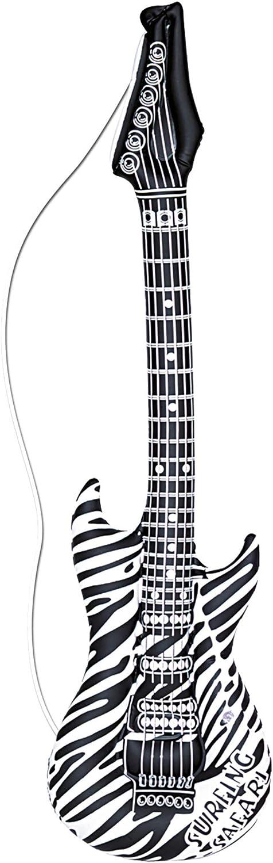 WIDMANN 23942hinchable Guitarra, unisex?Adultos, Negro, Color blanco, One size