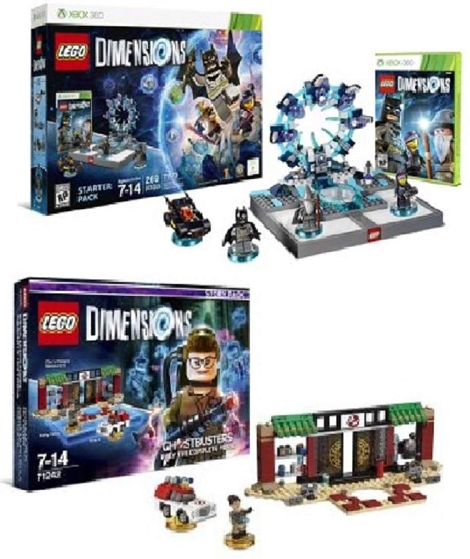 Amazon Com Lego Dimensions Starter Pack Xbox 360 And Lego Dimensions Story Pack New Ghostbusters Video Games