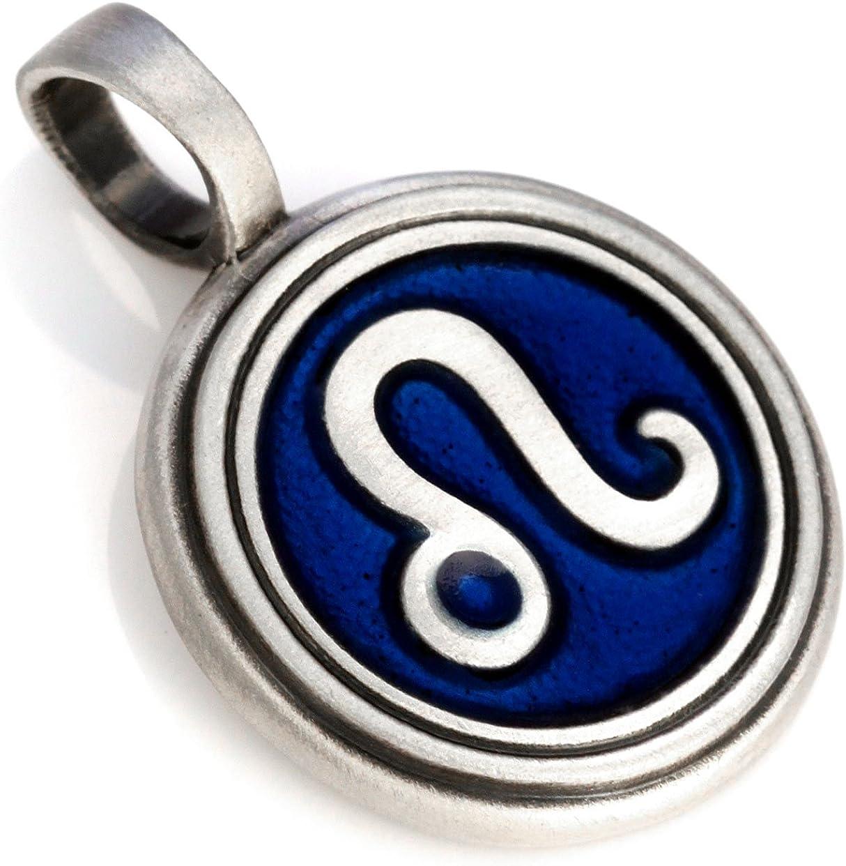 Bico Leo Zodiac Pendant (Z8) - starsign - Colored Resin and Metal Tribal Street Jewelry