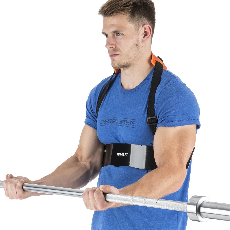 Klarfit BiTi Blaster muñequera bíceps tríceps Isolator Blaster Bomber (Sujeción ejercicios curl, cordón nylon ajustable, construcción sólida metal, ...