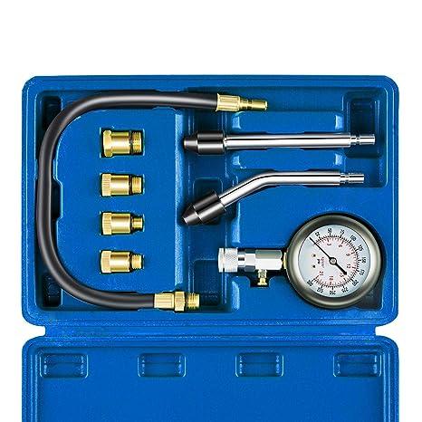 Auto Piston Spark Plug Compression Tester Kit | Automotive Fuel Petrol Gas  Engine Motor Cylinder Pressure Gauge for Vehicle Marine Motorcycle ATV UTV