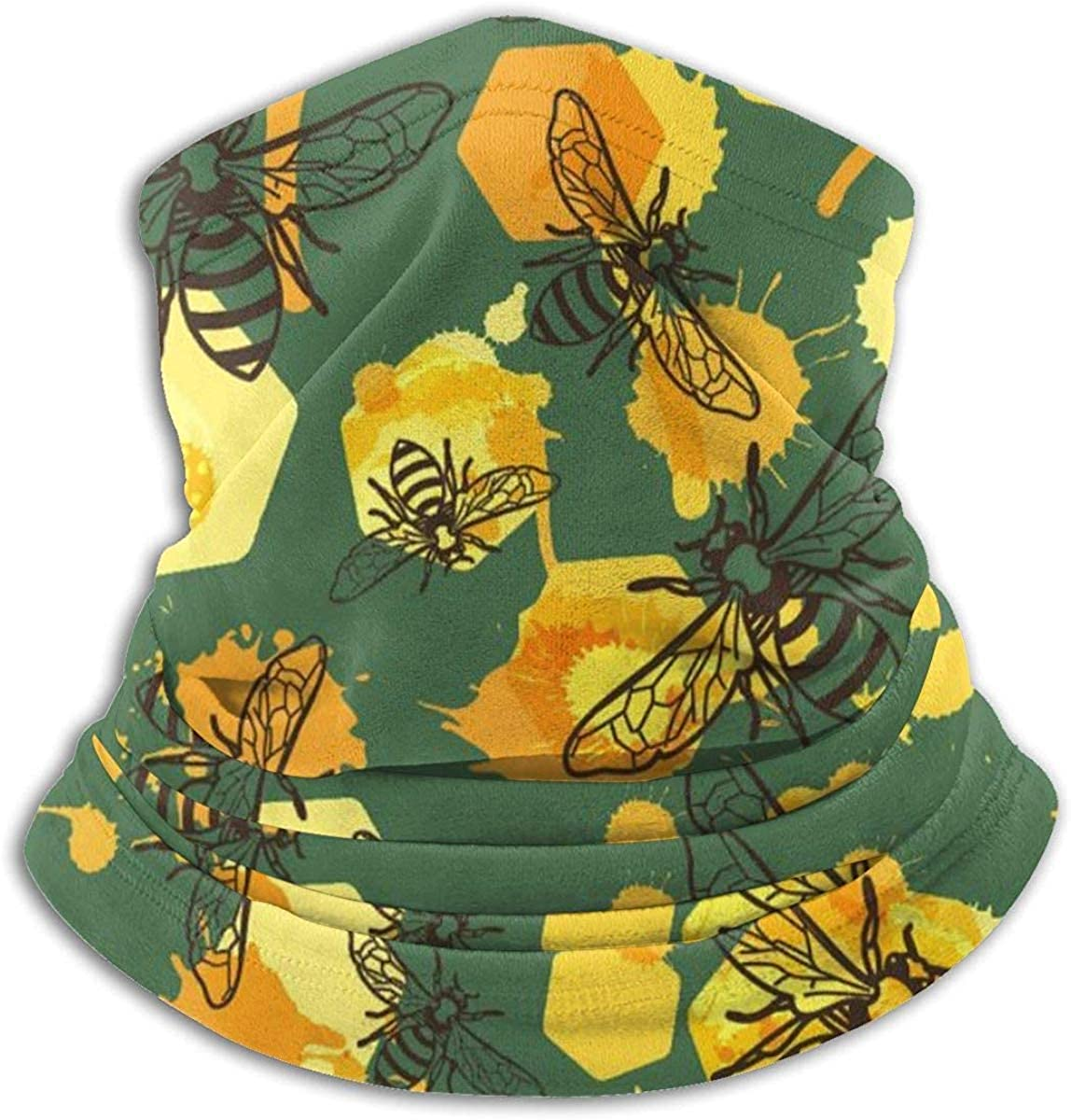 Save The Bees Microfiber Neck Warmer Balaclavas Soft Fleece Headwear Face Scarf Mask for Winter