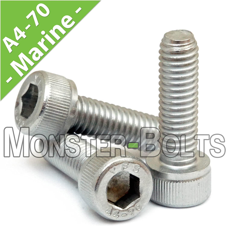 Hexagon Socket Button Head Screws A4 Marine Grade Stainless Steel T316