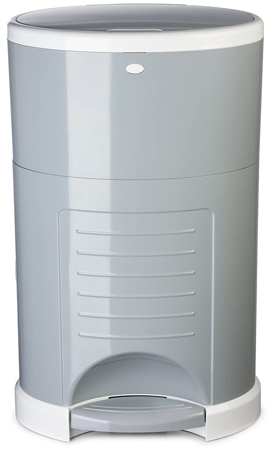 Dekor Plus Hands-Free Diaper Pail | Easiest to Use | Just Step. Drop. Done! | Pail Won't Absorb Odors/Rust | 20 Second Bag Change | Most Economical Refill System | Great for Cloth Diapers | Gray Diaper Dekor 2-12026-1