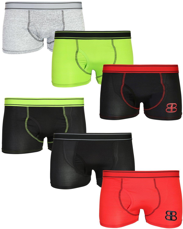 Black Bear Men's Performance Dry-Fit Compression Boxer Brief Underwear, Briefs, Medium'