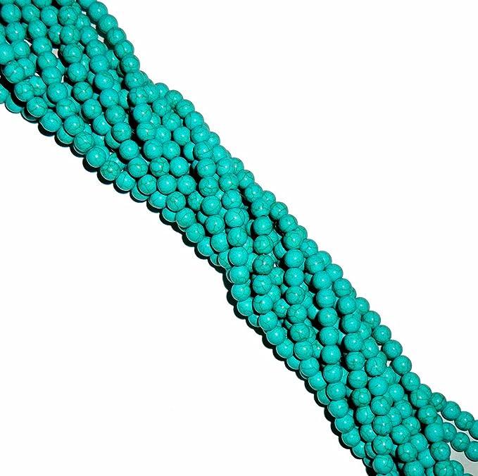 """8mm Round Magnesite White Buffalo Turquoise Round Beads 40cm 15/""""  Stone"""