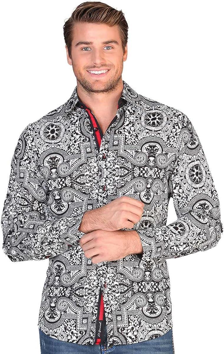 Camisa Casual Shirt L//Sleeve El General 100/% Cotton ID 122373 CS1 Black