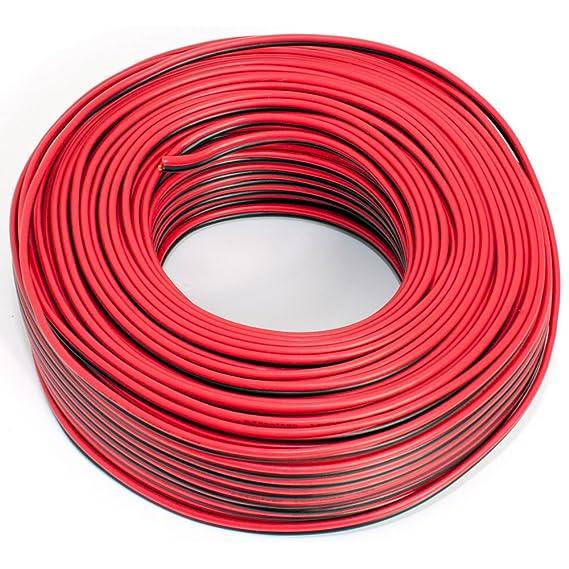 Seki - Cable para Altavoces (2 x 0,75 mm²) 0,75mm2-10m Rojo y Negro: Amazon.es: Electrónica