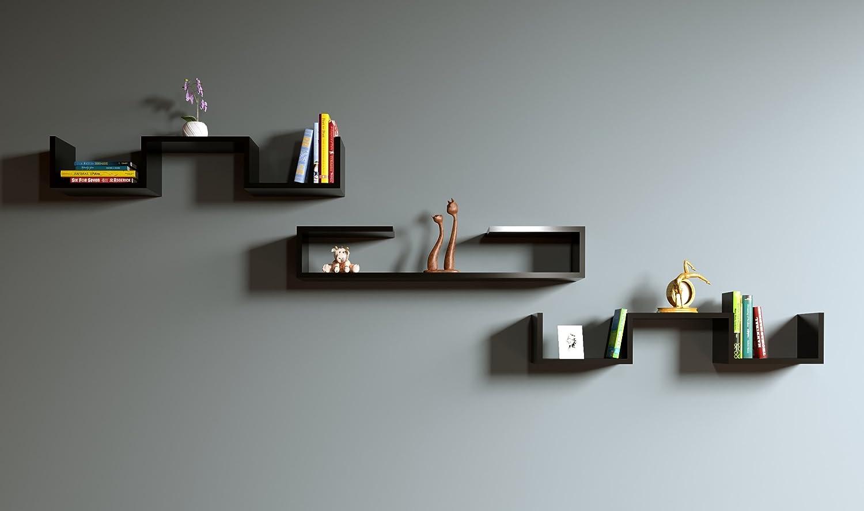 Homidea DOVE DOVE DOVE Wandregal - Bücherregal - Hängeregal - Dekoregal für Wohnzimmer in modernem design (Weiß) 2ff3bf