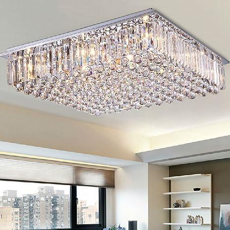 Getop Modern K9 Crystal Chandeliers LED Lighting Living Room Restaurant  Crystal Ceiling Lamp E14 Indoor Lightings
