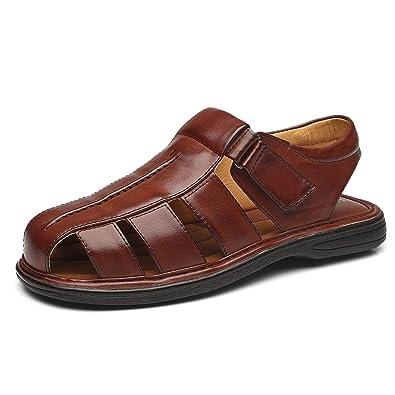 1e34490c1976 Faranzi Mens Fisherman Sandals Closed Toe Non-Slip Outdoor Casual  Comfortable Adjustable Strap Sports Sandals