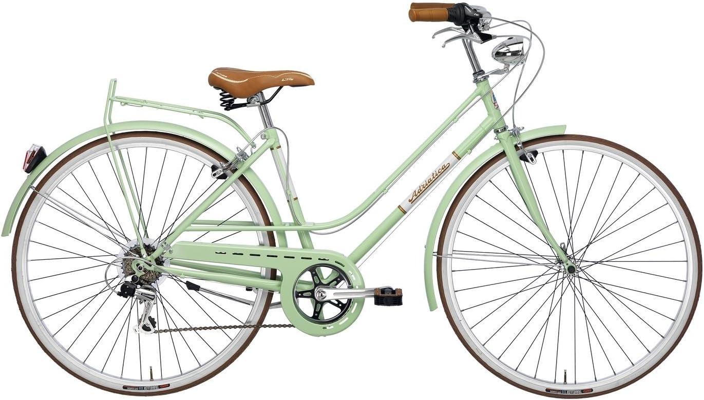 Adriatica Bicicleta Clasica Mujer Retro Vintage Rondine Verde: Amazon.es: Deportes y aire libre