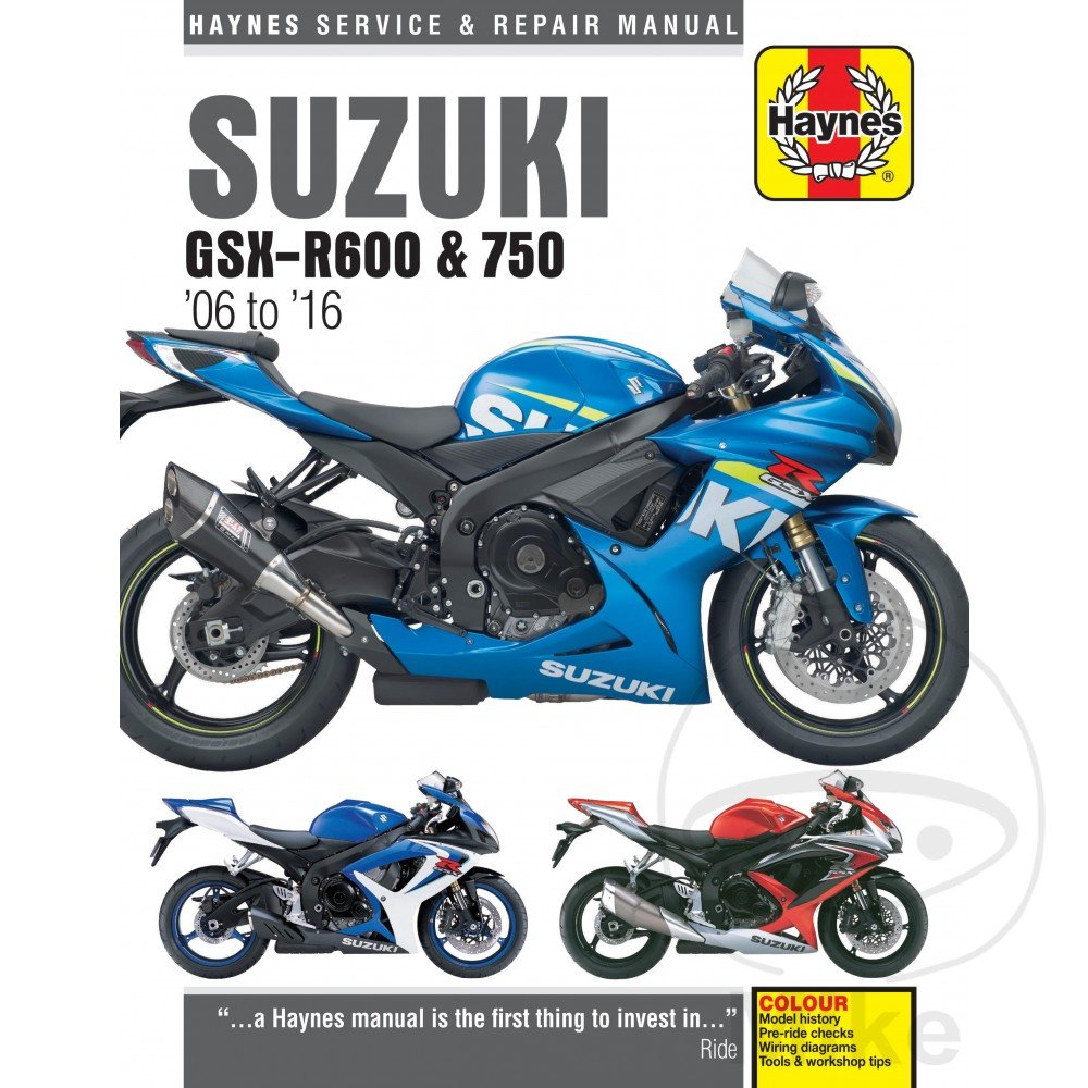 Amazon.com: 06-09 SUZUKI GSXR600: Haynes Repair Manual (MISC): Automotive