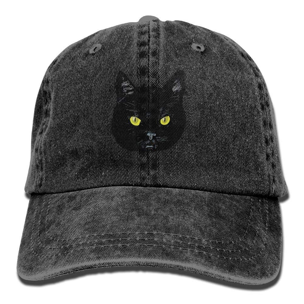JTRVW Black Cats are Not Alike Trend Printing Cowboy Hat Fashion Baseball Cap for Men and Women Black