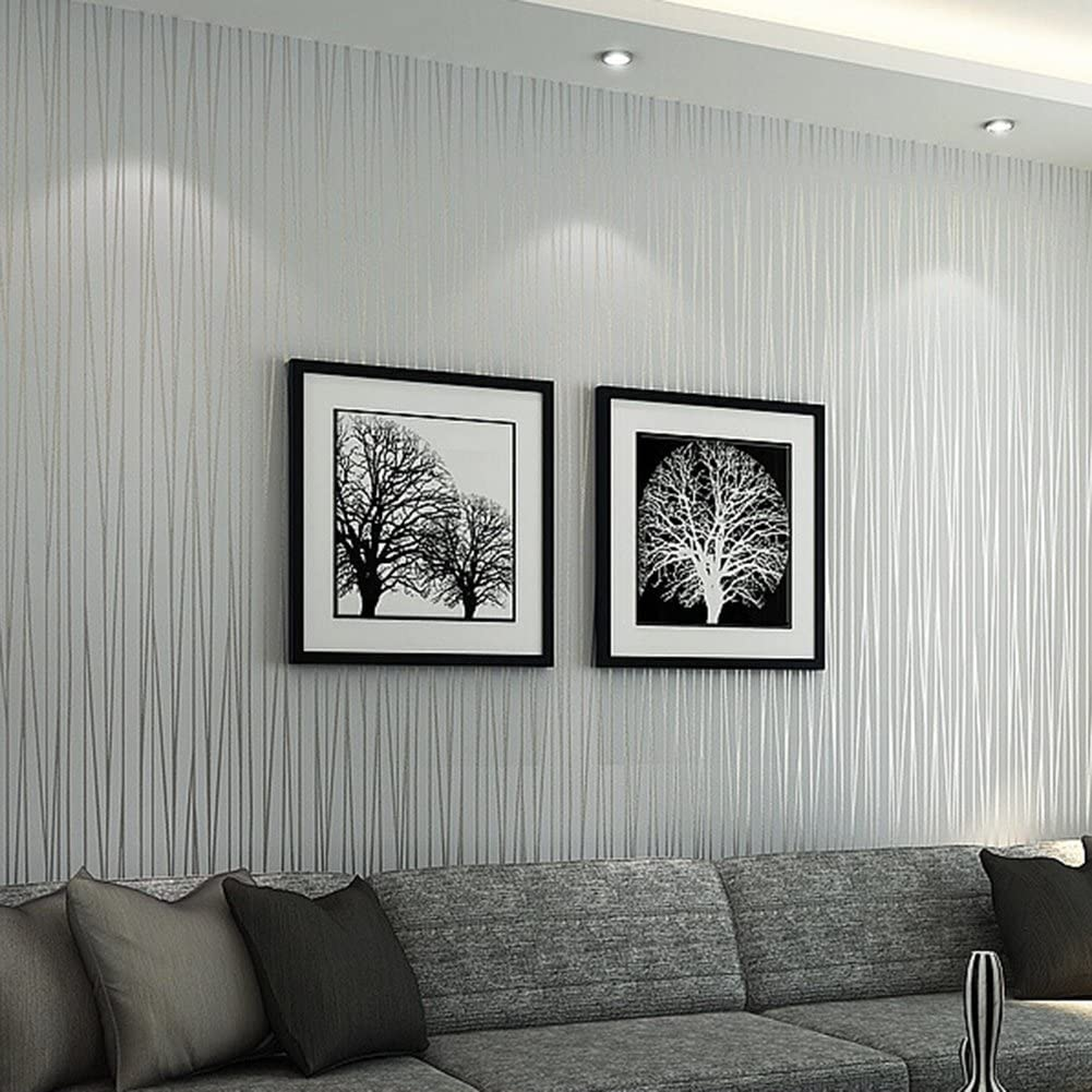 Helegesong 10m Stick Wallpaper Bedroom Living Room Modern Wall Tv Background Home Decor Silver Grey Wallpaper Tools Home Improvement Uniformatecolombia Com