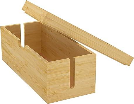 KD Essentials - Caja de bambú para Cables: Amazon.es: Electrónica