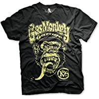 Gas Monkey Garage Officially Licensed Logo T-Shirt Camiseta T Shirt GMG - 100% Oficial